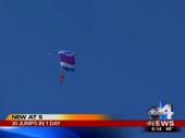 Skydiver Jumps 30 Times In One Day For Autism Awareness
