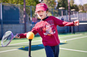 Youths with autism take a swing at tennis